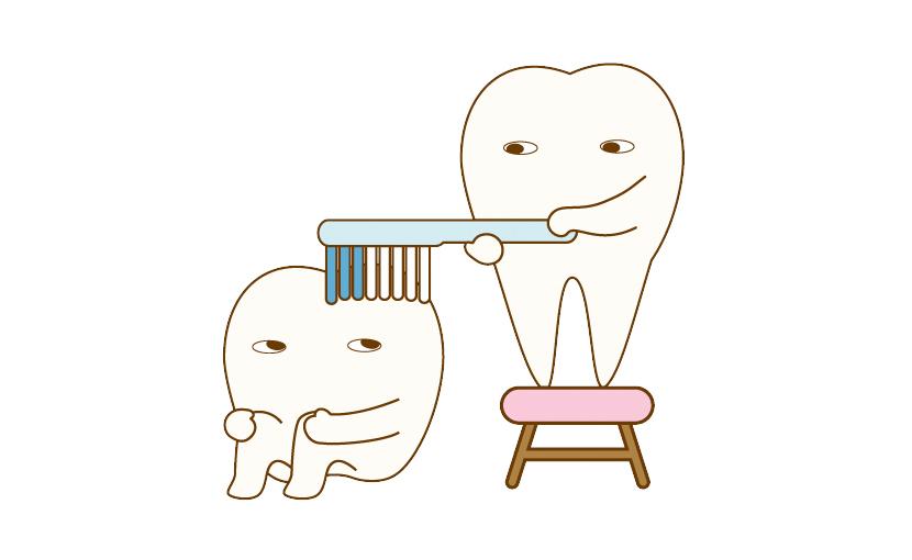 歯ブラシのコツ